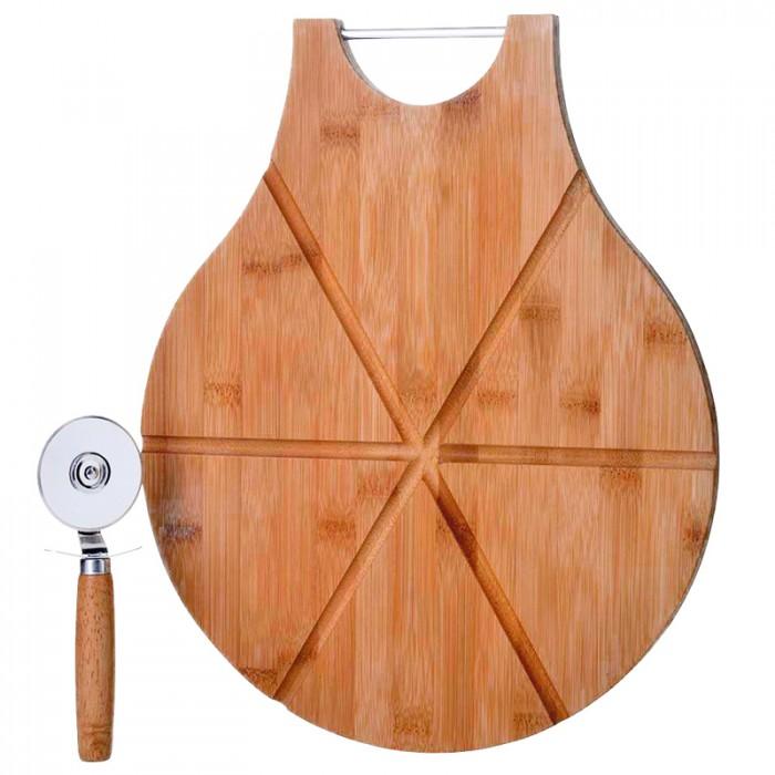 tabla para pizza con cortador