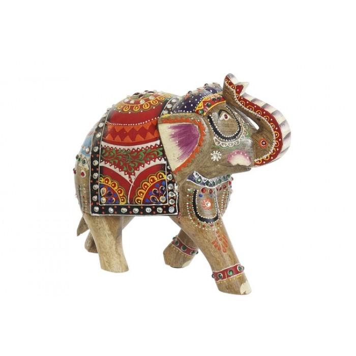 elefante madera multicolor