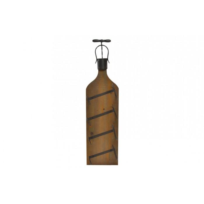 botellero pared rústico