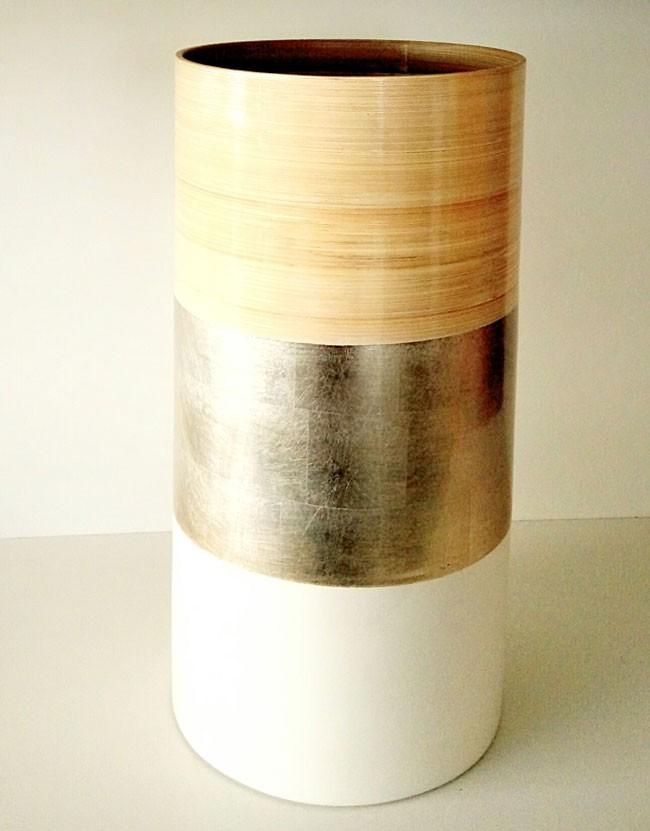 jarrón bambú