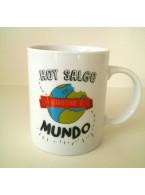 """Mug """"Hoy salgo a comerme el mundo"""""""
