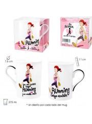 Mug running chica