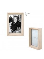 Portafotos madera natural