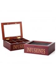 caja infusiones madera