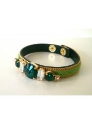 pulsera toscana verde piedras