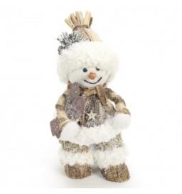muñeco de nieve escarchado